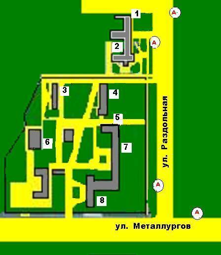 Боткинская больница схема расположения корпусов.